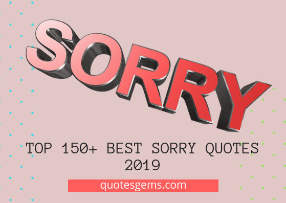 best sorry quotes 2019