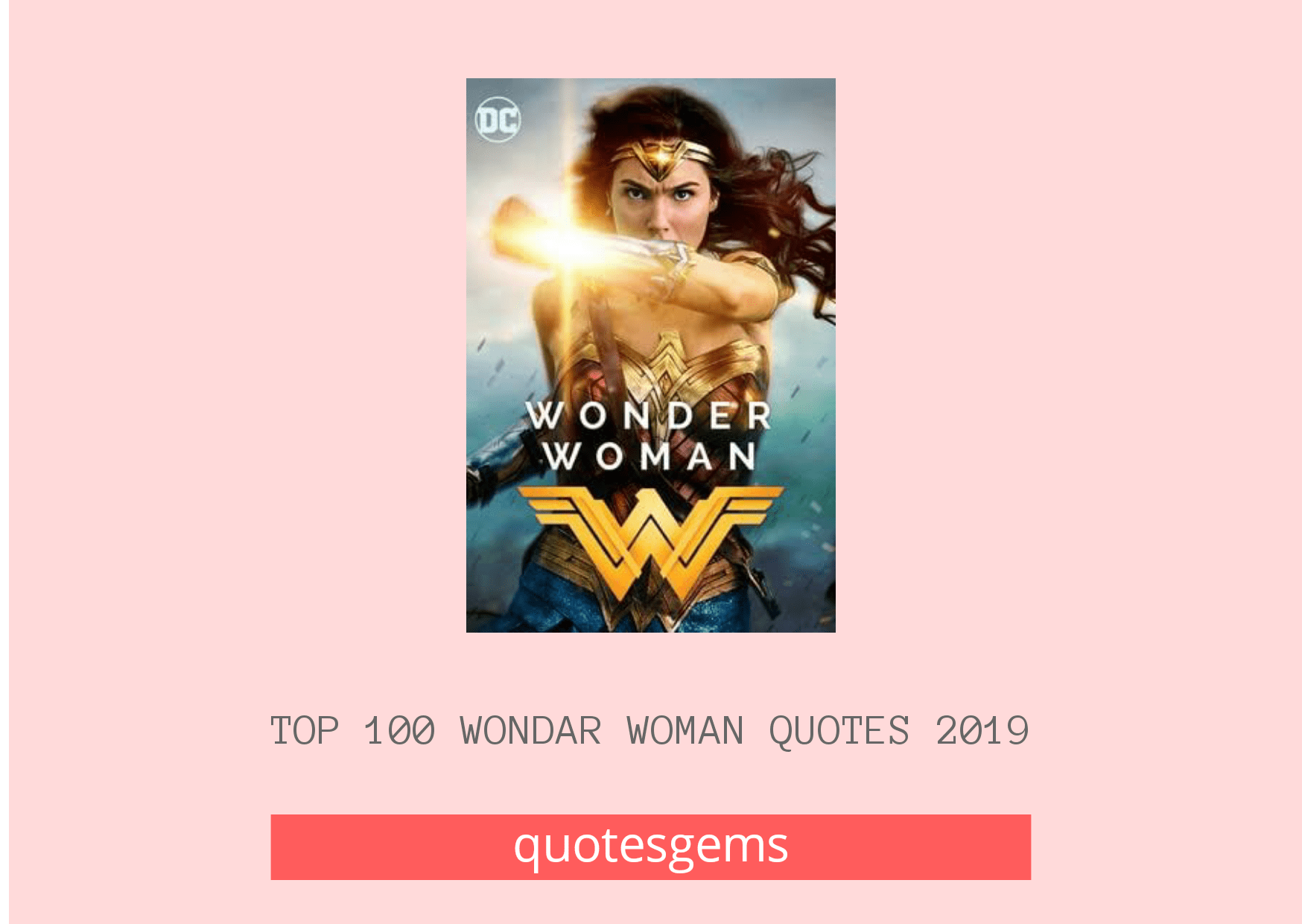 Wonder Woman Quotes 2019