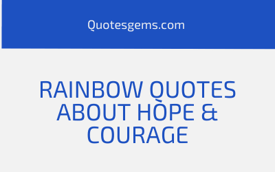 Rainbow Quotes About Hope